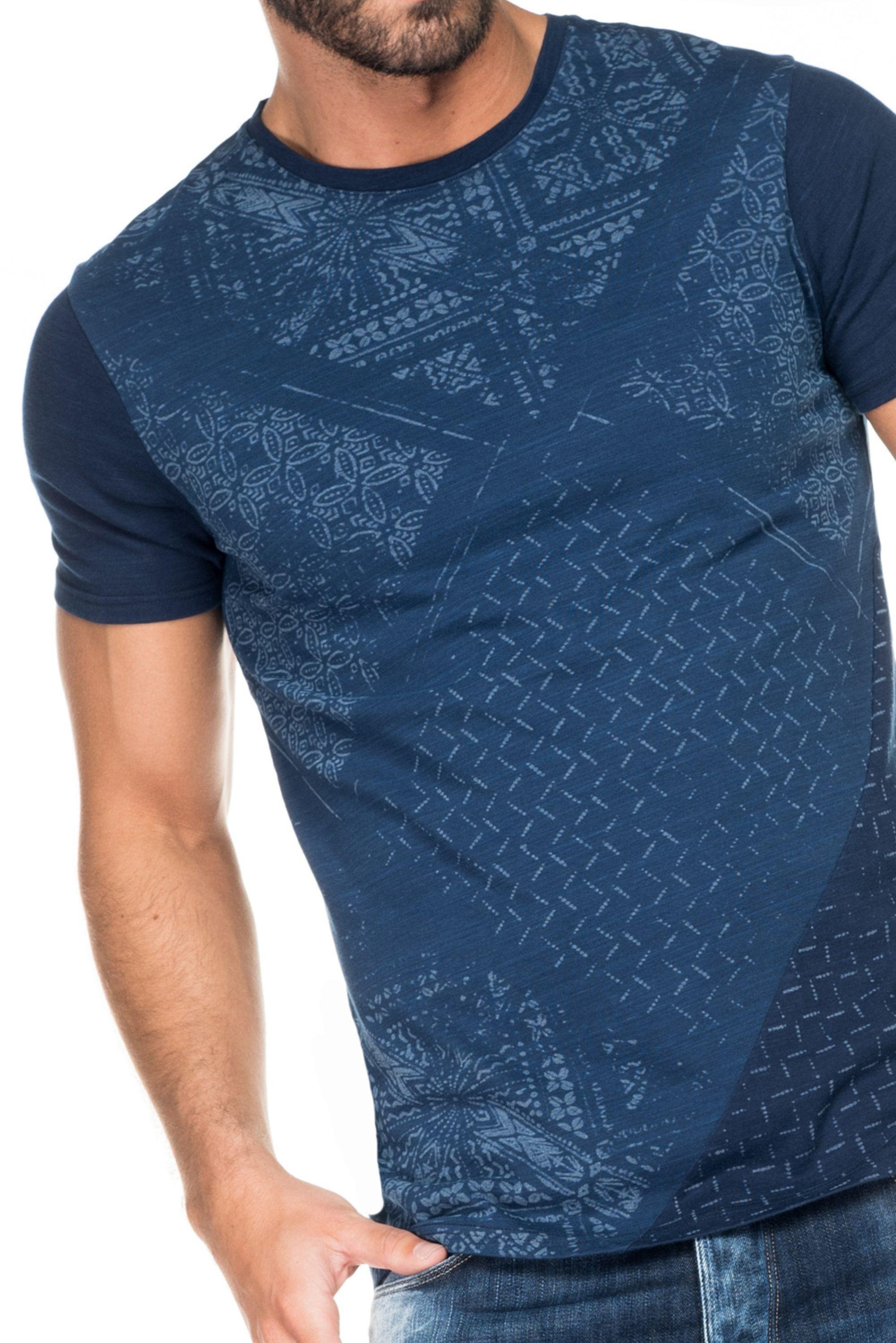 T-shirt avec différents imprimés | 116832 Bleu lumineux | Salsa