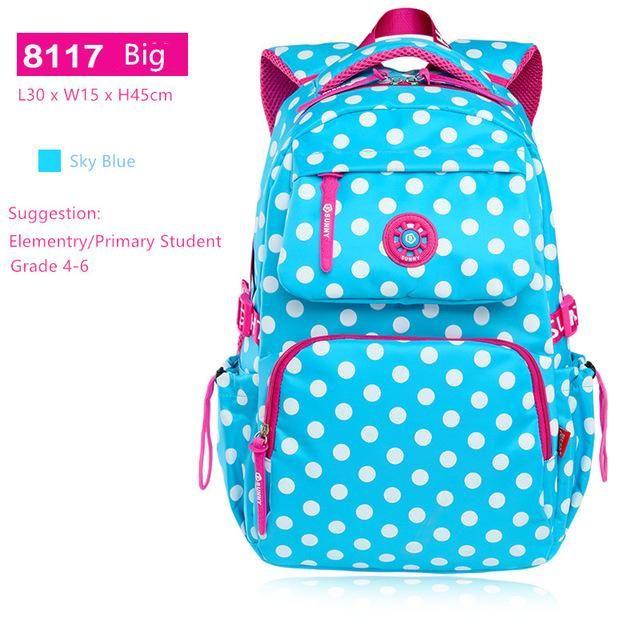 f57de9edea80 sky blue polka dot backpacks for teenage girls school bags schoolboy  bagpack student bookbag schoolbag women backpack mochila