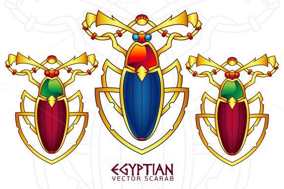 Egyptian Scarab Illustration 7 by pixaroma on Creative Market