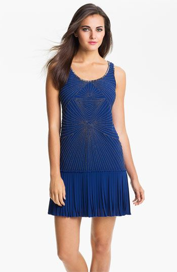 Vince Camuto Beaded Bodice Drop Waist Dress available at # ...