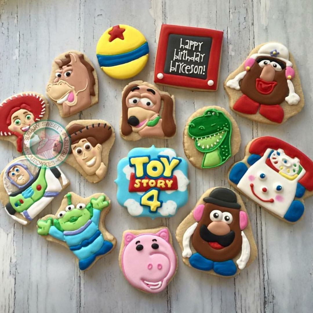 Toy Story Cookies By Sugarysweet Character Cookies In 2019 Toy