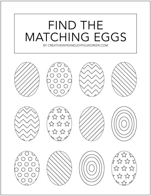 Kid's Easter Egg Activity Sheet Free Printable (2020 ...