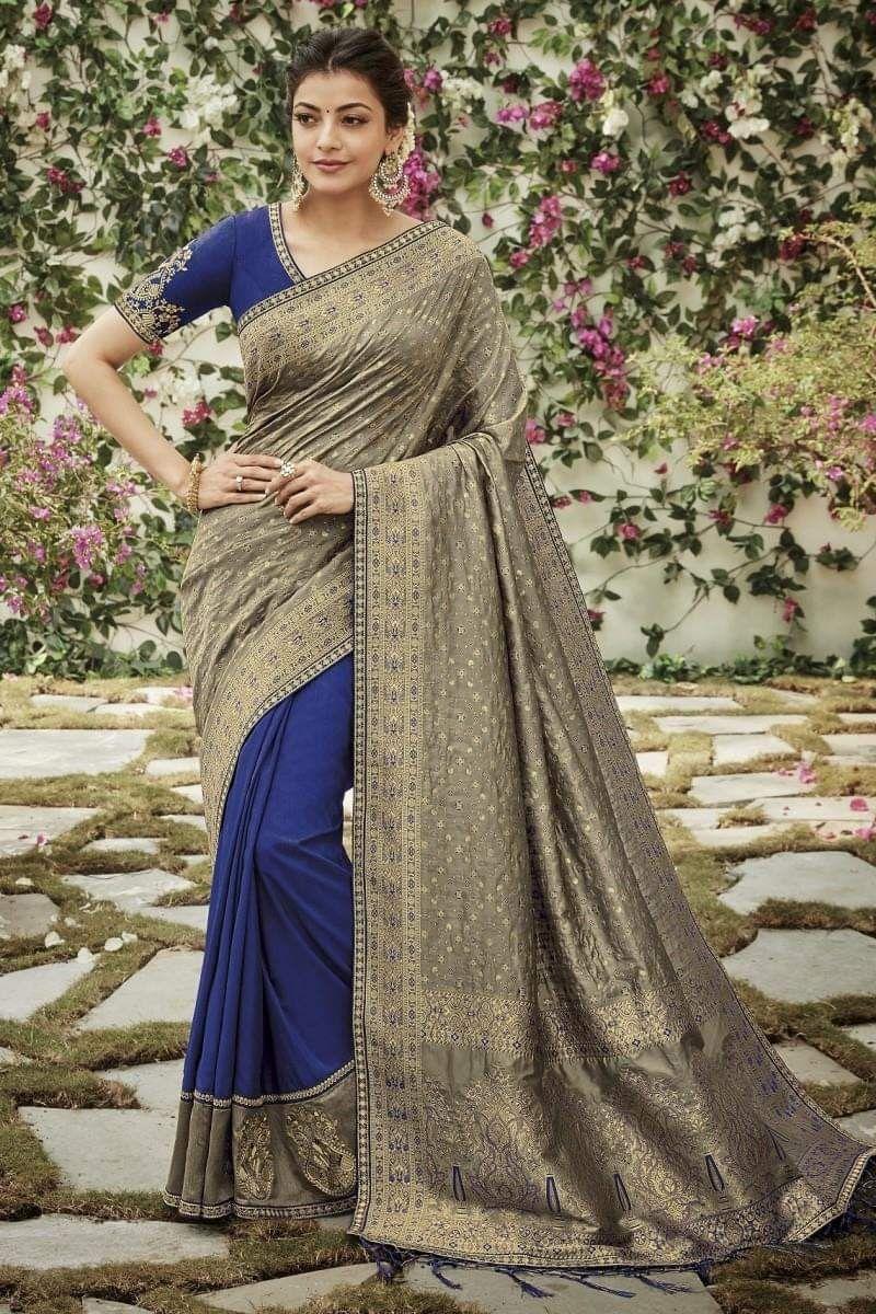 Kajal Aggarwal Indian fashion saree, Saree, Bollywood girls