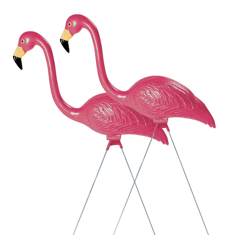 Sculptural Gardens Pink Flamingo Lawn Ornament Pair