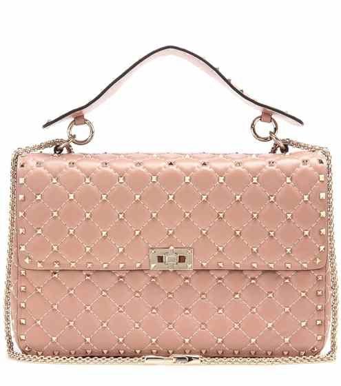 Rockstud Spike quilted leather handbag   Valentino   Handbags ...