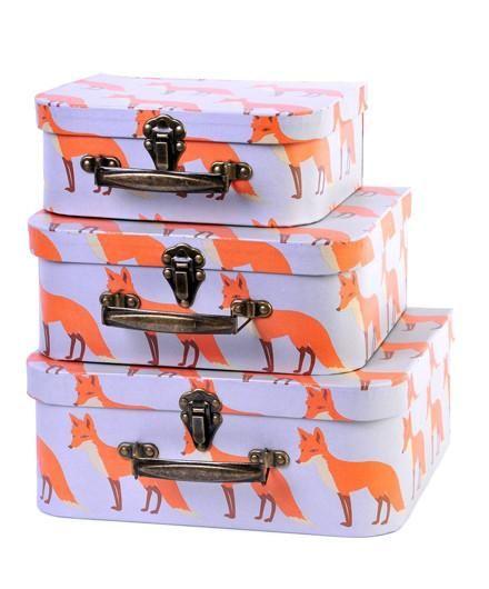 Milkbarn Orange Fox Suitcase Set - Kids Boxes - Shop Nectar