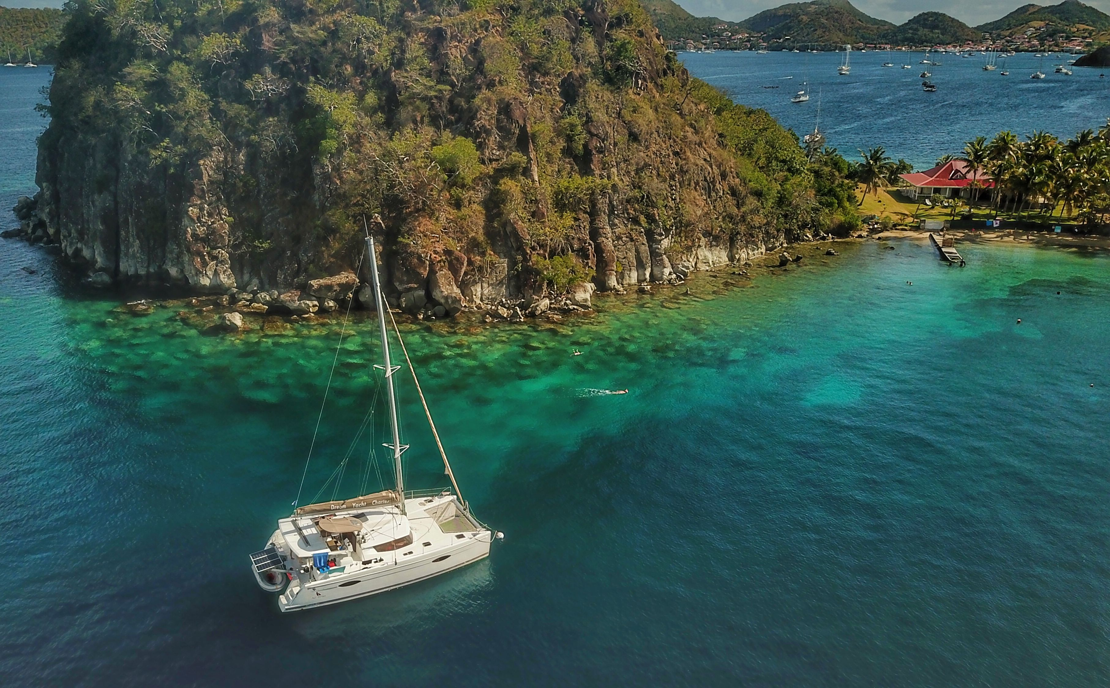 Catamaran sailing in the caribbean sailing sailboat