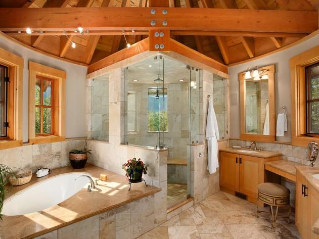 Spa Bathroom Winner: Rustic Charm in Pemberton, British Columbia ...