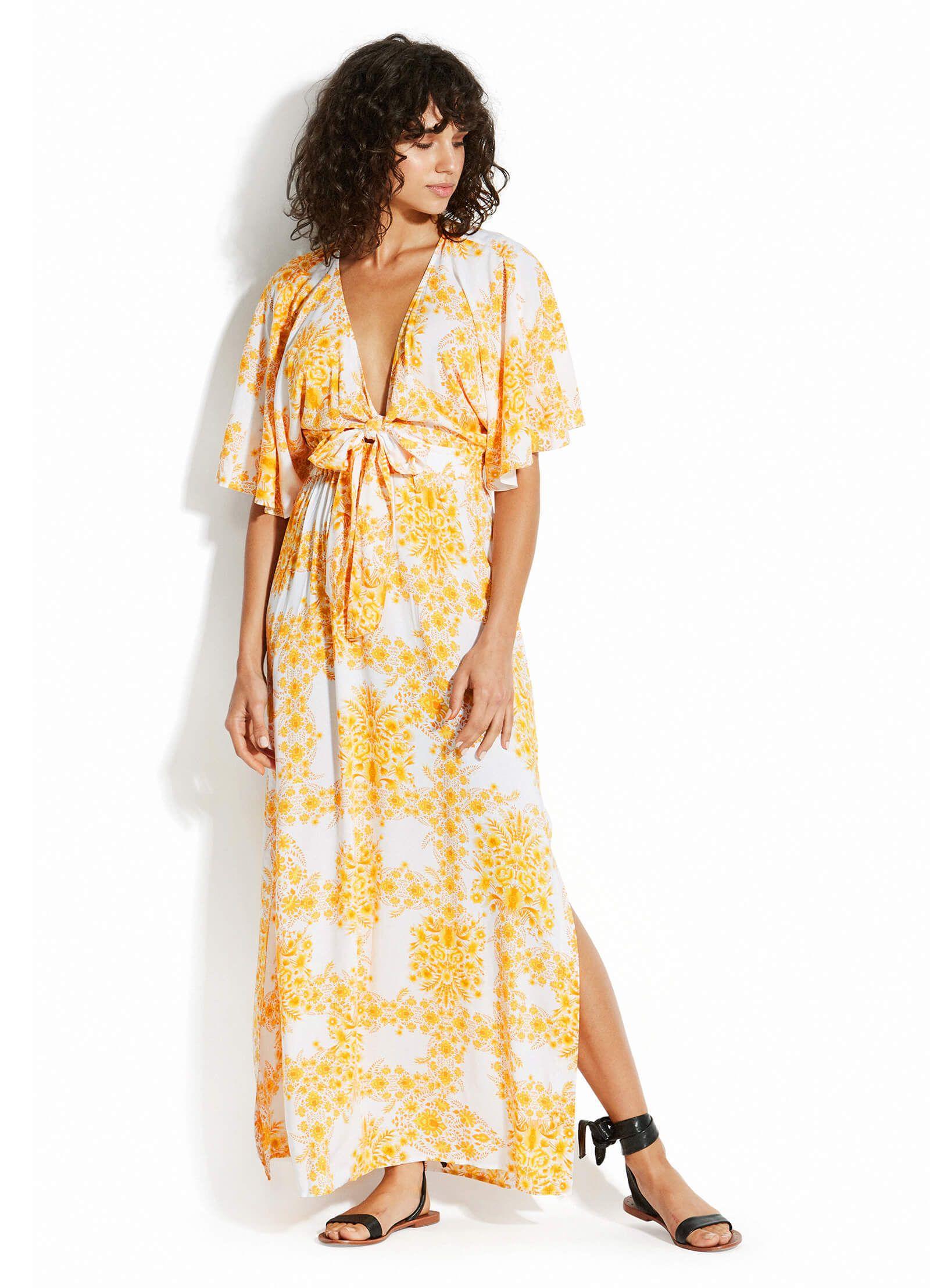 Sunflower Maxi Dress Seafolly Australia Maxi Dress Dresses Seafolly [ 2216 x 1600 Pixel ]