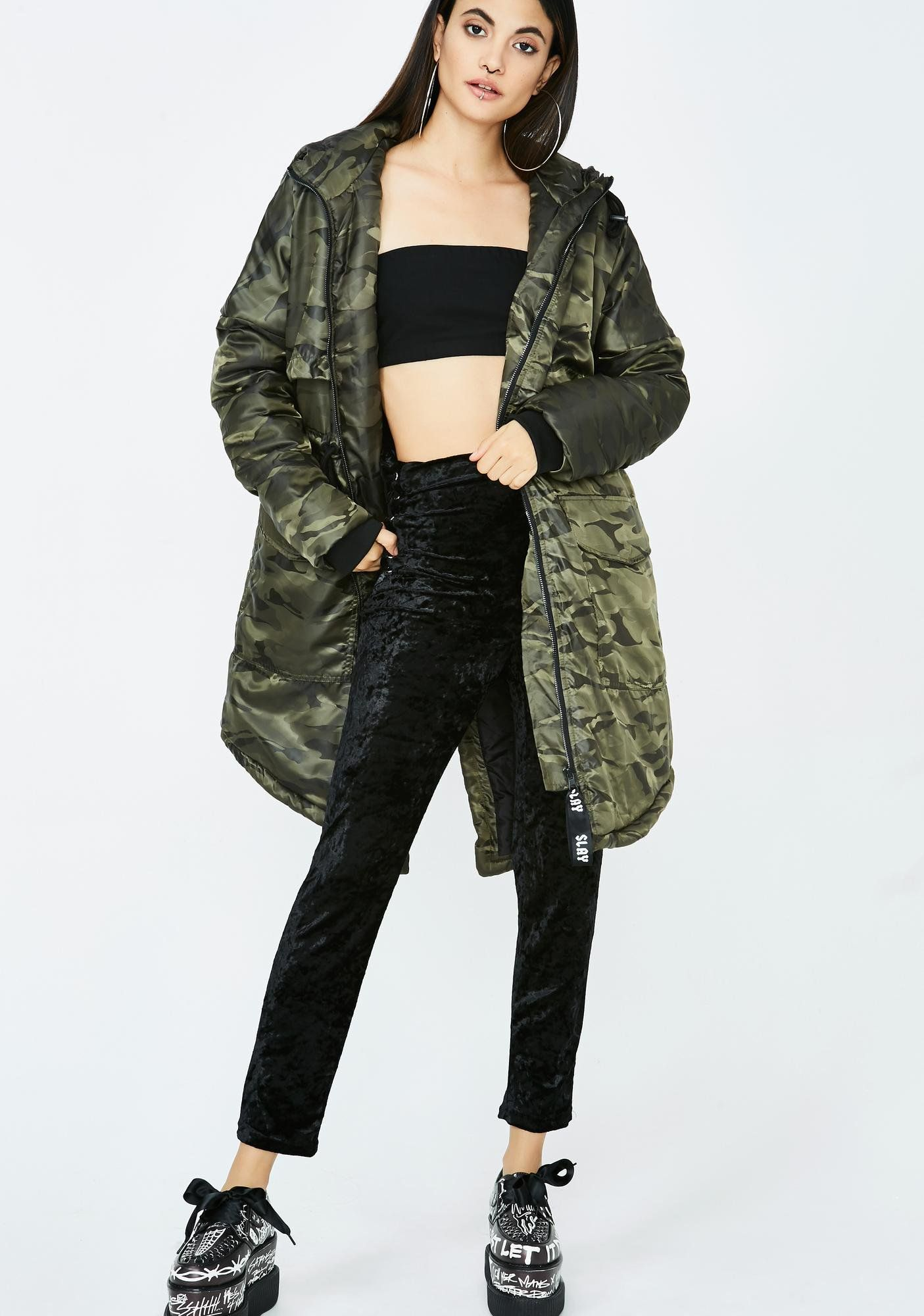 5e21248251e  camo  streetwear  frontrow  DollsKill  fashion Camo Jacket