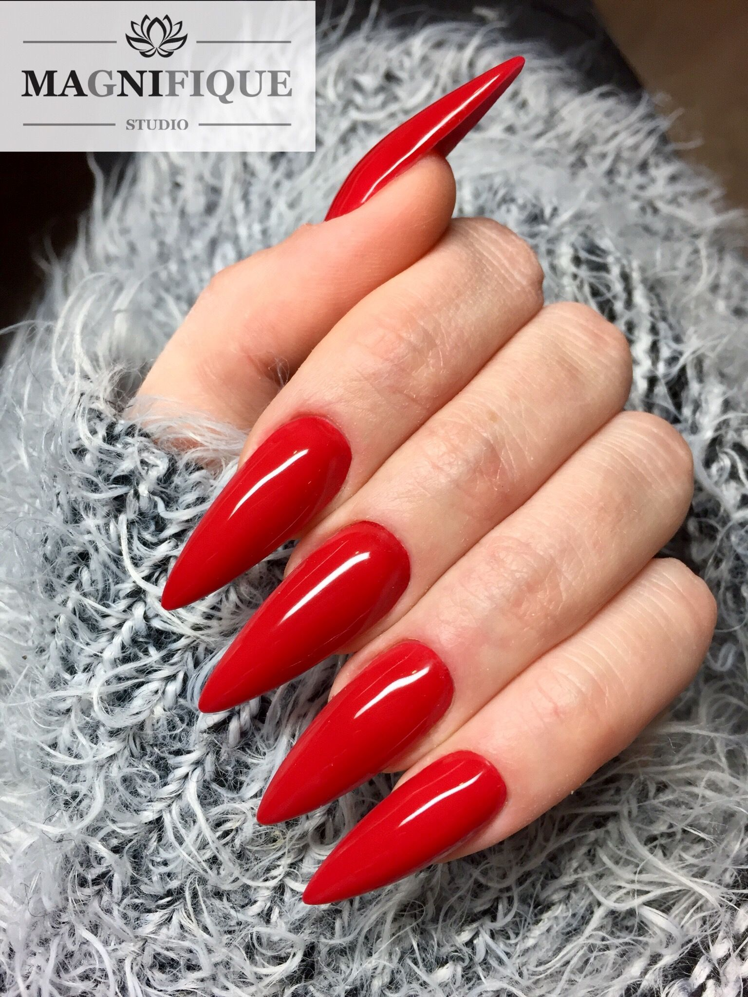 Red Nails Party Nails Rotenagel Czerwone Paznokcie Party Nails