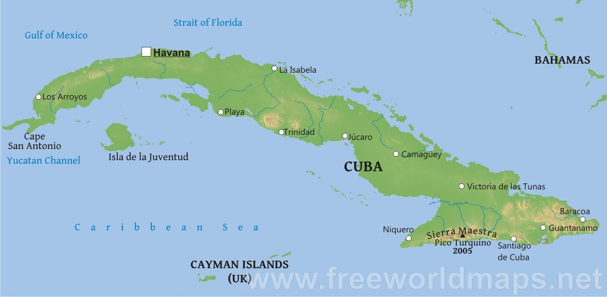 Geography The Total Area Of Cuba Is Km Including The - Where is cuba