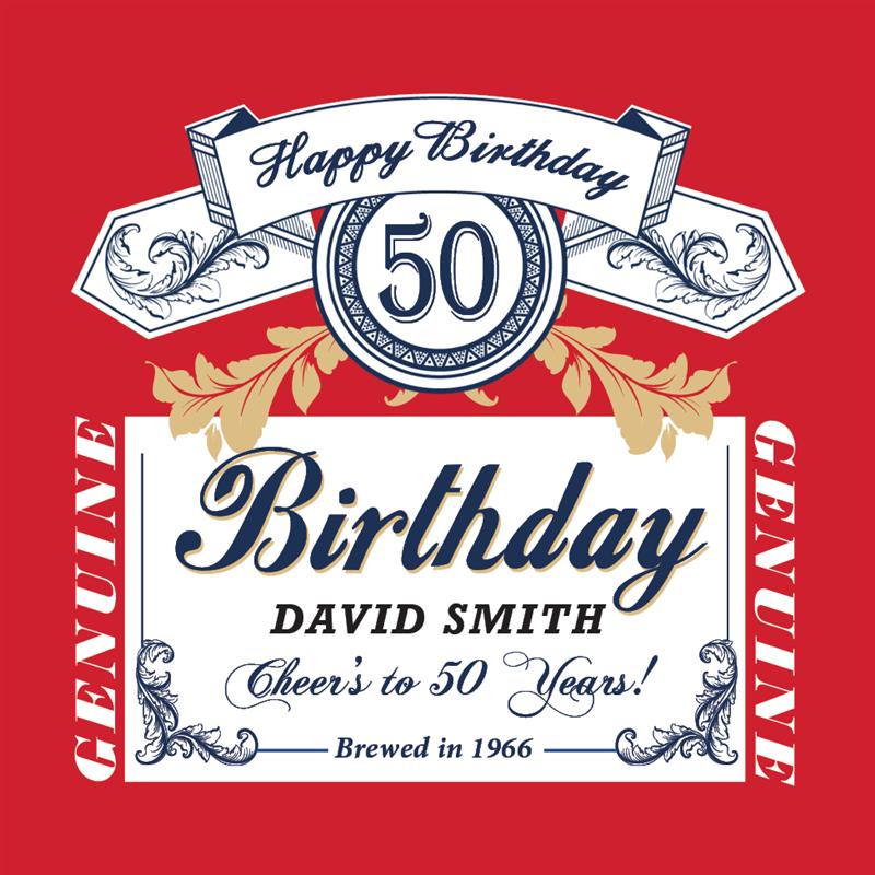 Budweiser Birthday Beer Label Beer Birthday Beer Label Budweiser Cake