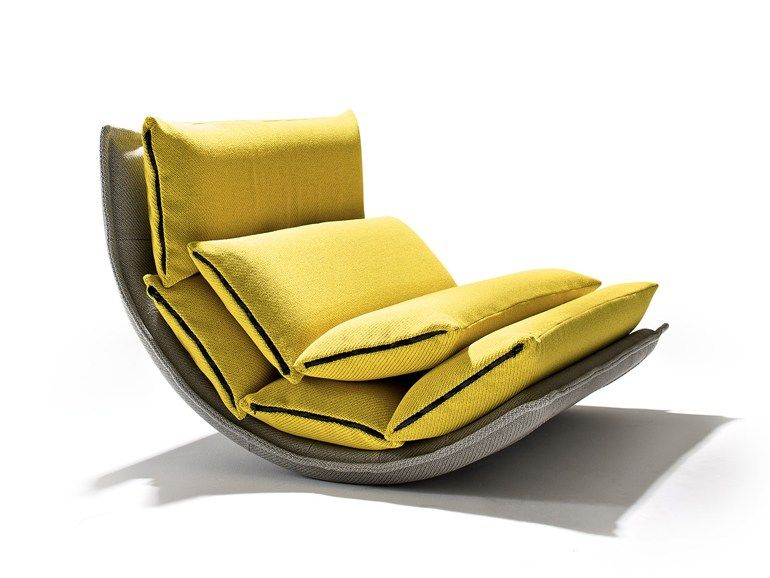 Rocking upholstered fabric armchair OPS ZIP Ops! Collection by Sedes