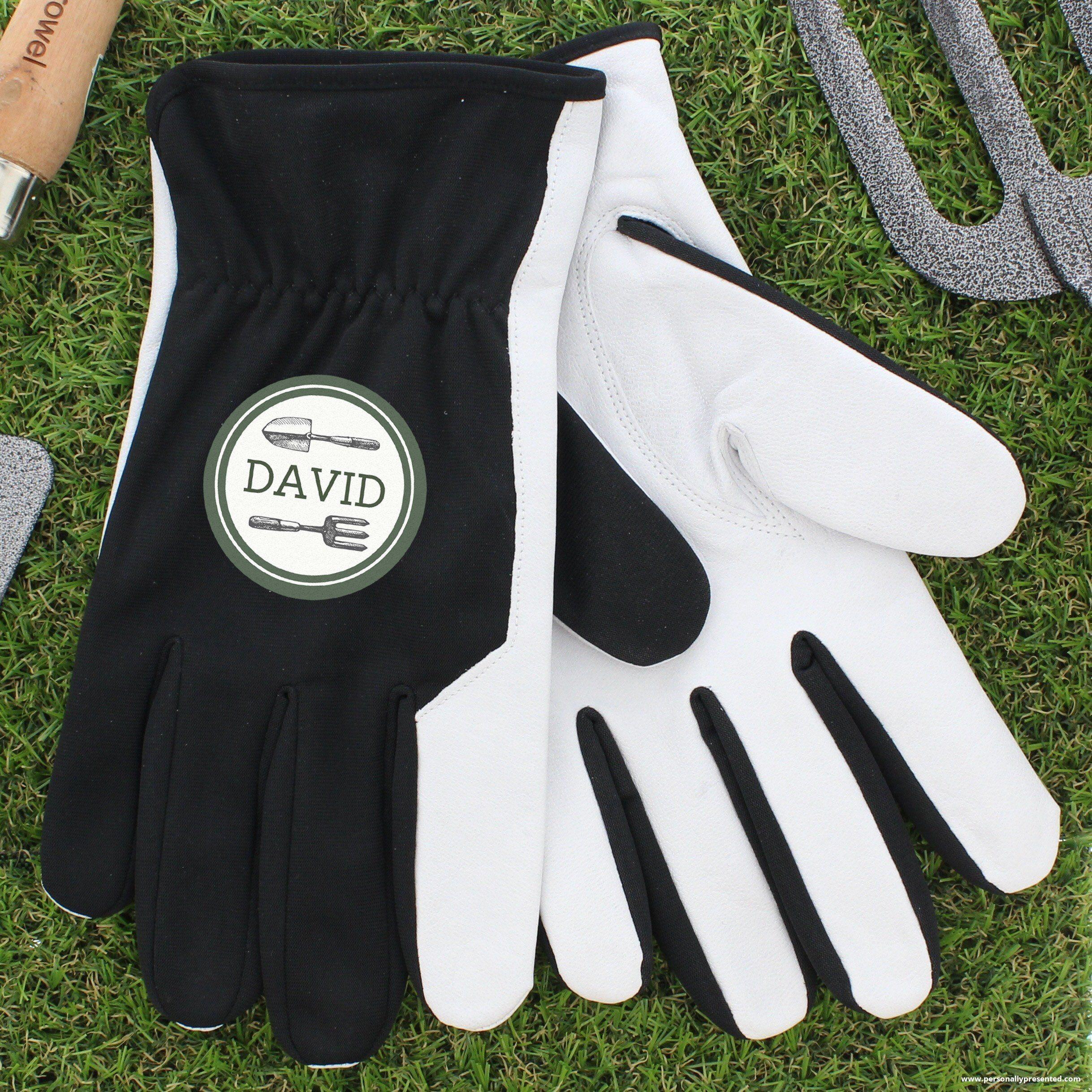 Personalised Gardener Large Black Gardening Gloves Gift For Him Dad Grandpa Idea