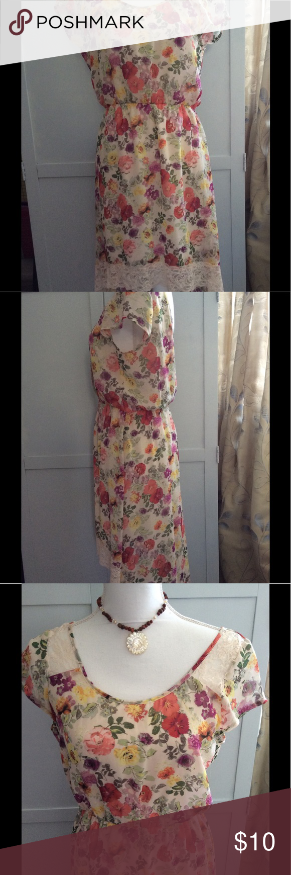 Floral summer dress summer dresses high low and eyeshadow