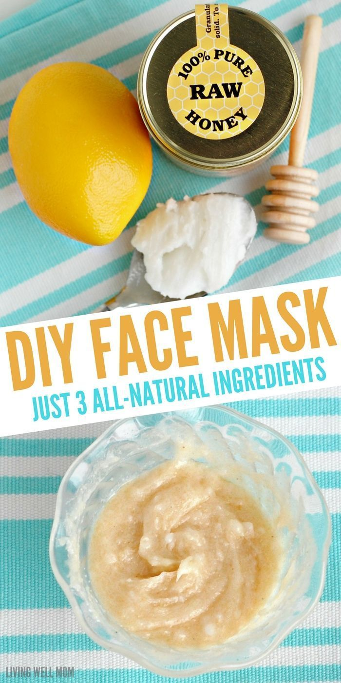 Face Mask with All-Natural Ingredients With just 3 simple all-natural ingredients, this DIY face mask will take you just 2 minutes to make and your skin will be moisturized and even glowing!With just 3 simple all-natural ingredients, this DIY face mask will take you just 2 minutes to make and your skin will be moisturized and even glowing!
