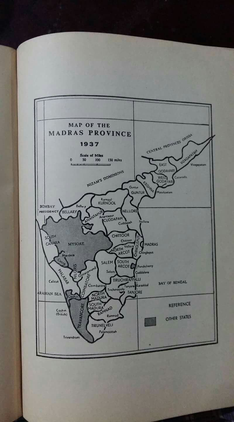Map of the Madras Province in 1937 It extended upto Vizhapattinam in     Map of the Madras Province in 1937 It extended upto Vizhapattinam in the  north east bordering Nizams Dominion on the north and included Malabar and  South