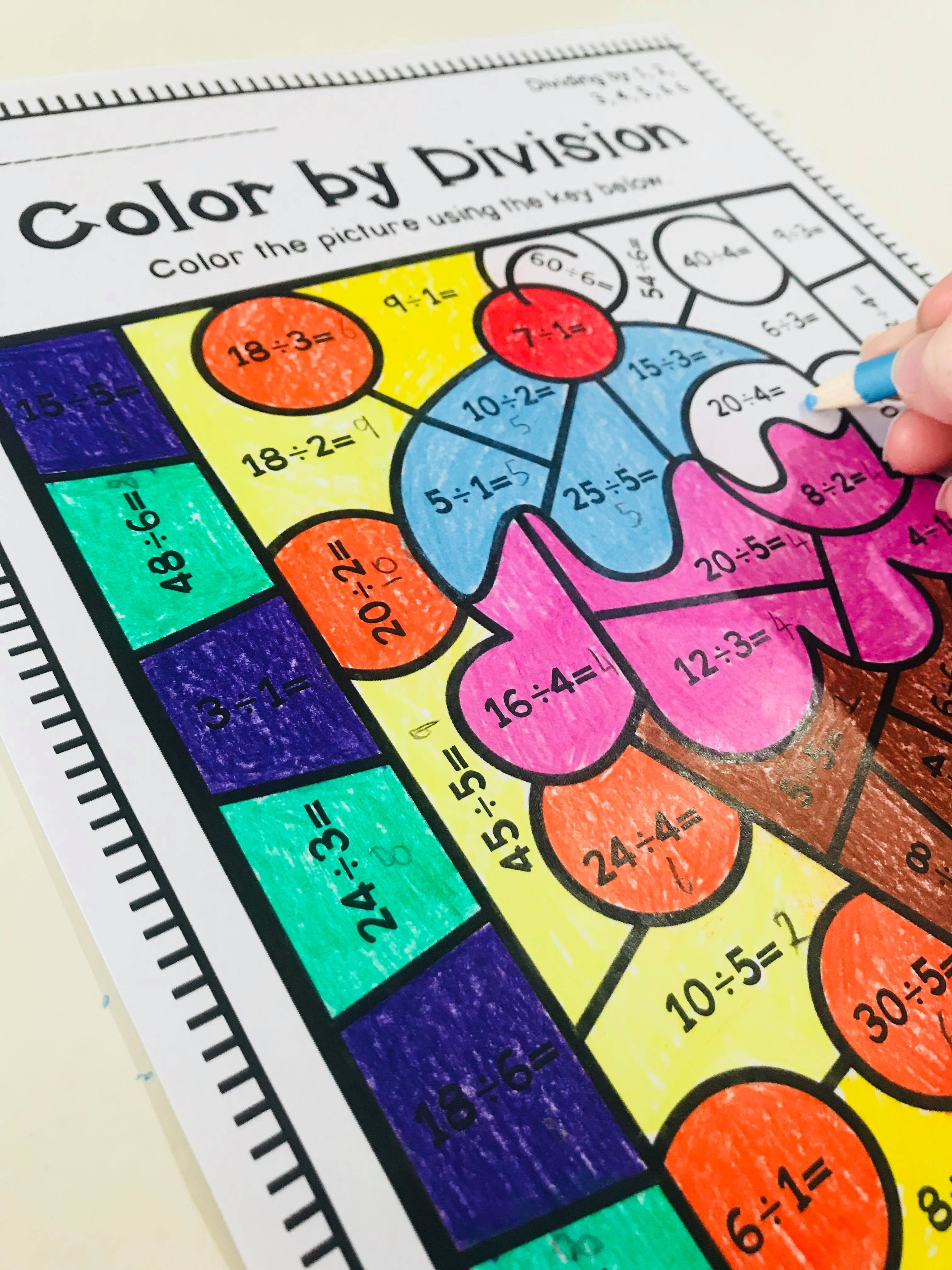 Color By Division Worksheets