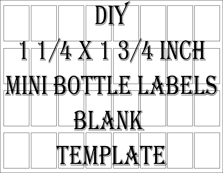 Mini Liquor Bottles Liquor Bottle Labels Bottle Label Template