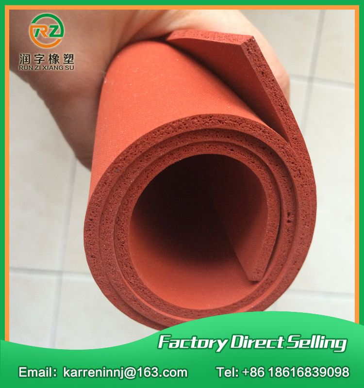 Red Silicone Foam Sheet 4mm Red Silicone Sponge Sheet Size 500x500x4mm Heat Transfer Rubber Matt Silicone Sheets Foam Sheets Red Foams