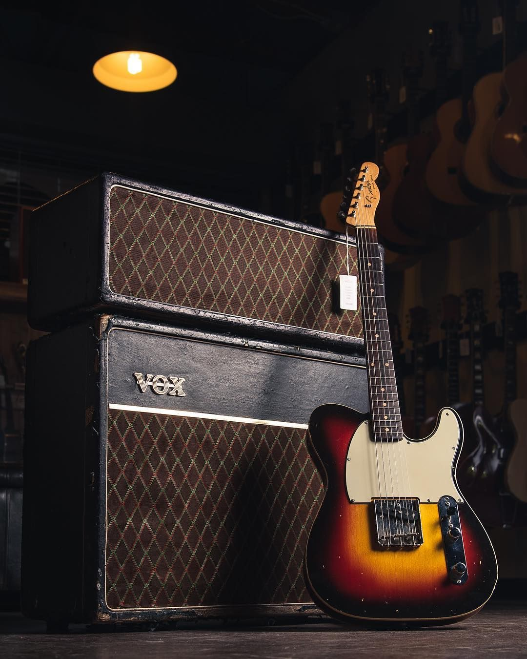 Carter Vintage Guitars (@cartervintageguitars) • Fender '61 Esquire Custom paired with a Vox '62 AC30 #vintageguitars