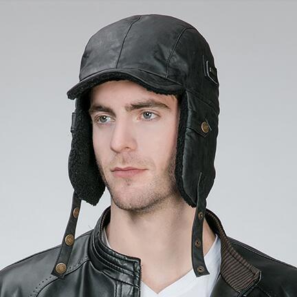 fbfce30b82d80 Outdoor russian ushanka hat with ear flaps mens warm aviator winter bomber  hat