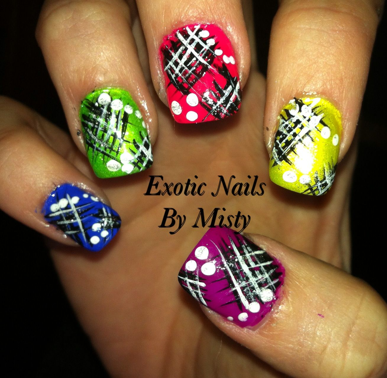 Unique nail art   Exotic Nails Hand painted nail art   Pinterest ...