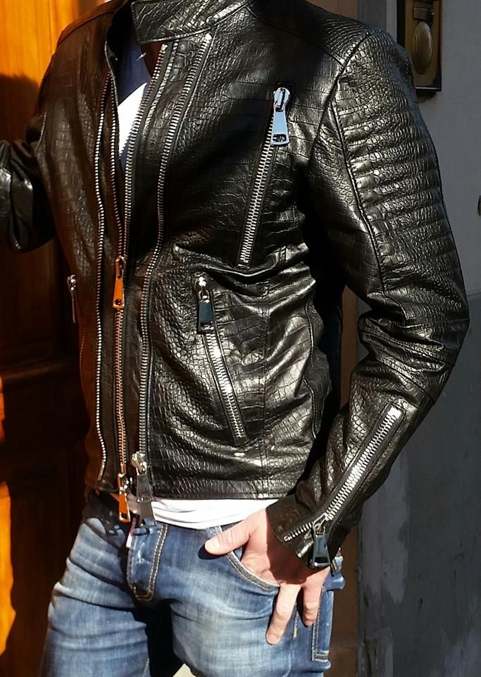 A good leather jacket earns its creds by being nicely
