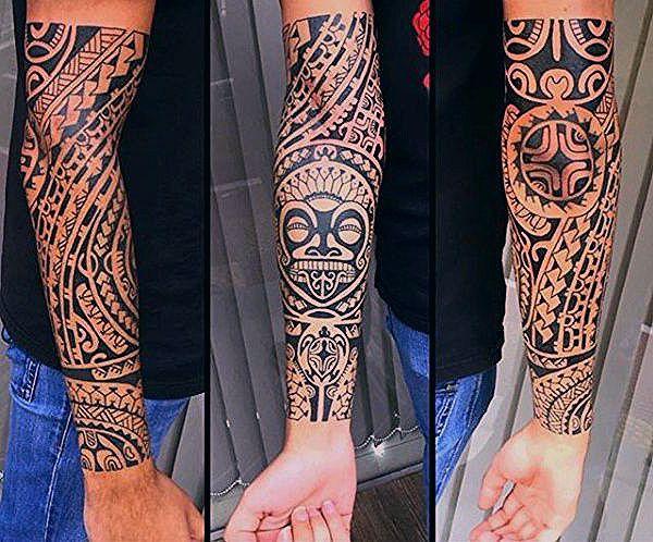 unterarm tribal tattoos manner manly ideen design | Tribal
