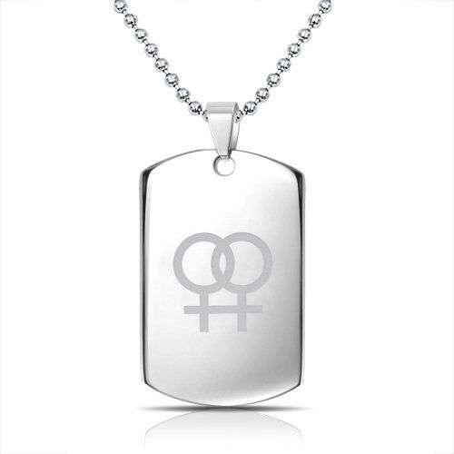Bling Jewelry Female Symbol Gay Pride Steel Dog Tag Pendant Necklace 20in Bling Jewelry http://www.amazon.com/dp/B00KISIN5S/ref=cm_sw_r_pi_dp_23FTub0AJAJZE