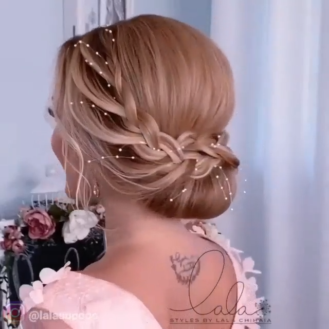 BRAIDED UPDO TUTORIAL – Peinados facile