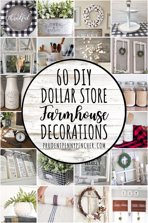 Photo of 50 Dollar Store DIY Farmhouse Decor Ideas