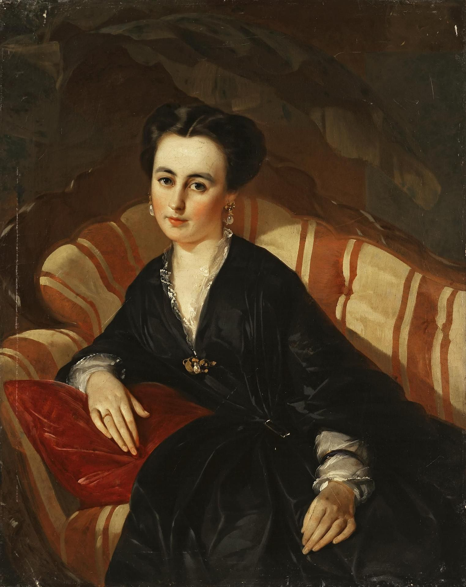 Portrait of an Unknown Woman | Ivan Kuzmich Makarov | Russia | late 1840s-early 1850s | oil on canvas | Hermitage | Inventory #: ЭРЖ-1317