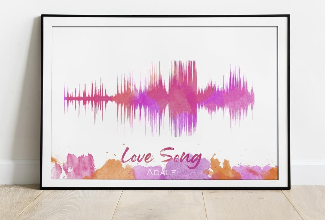 Personalized Sound Wave Print Wife Thoughtful Gift Son Mothers Day From Husband Soundwave Custom Personalised Mum Print Soundwave Gift