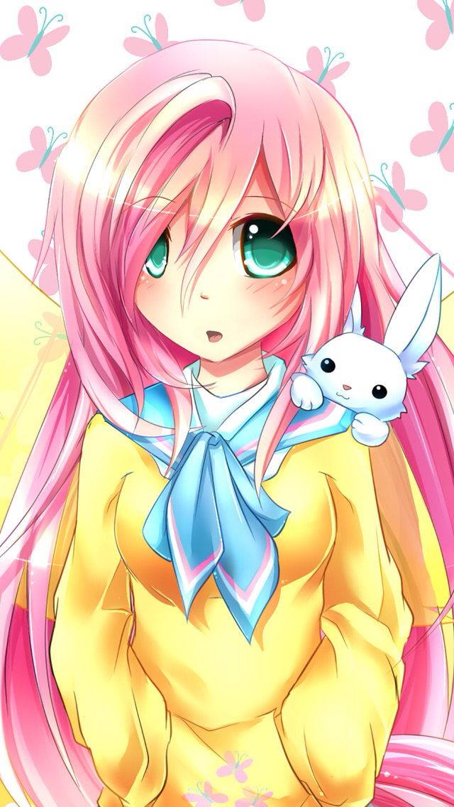 Fluttershy Anime Version My Little Pony