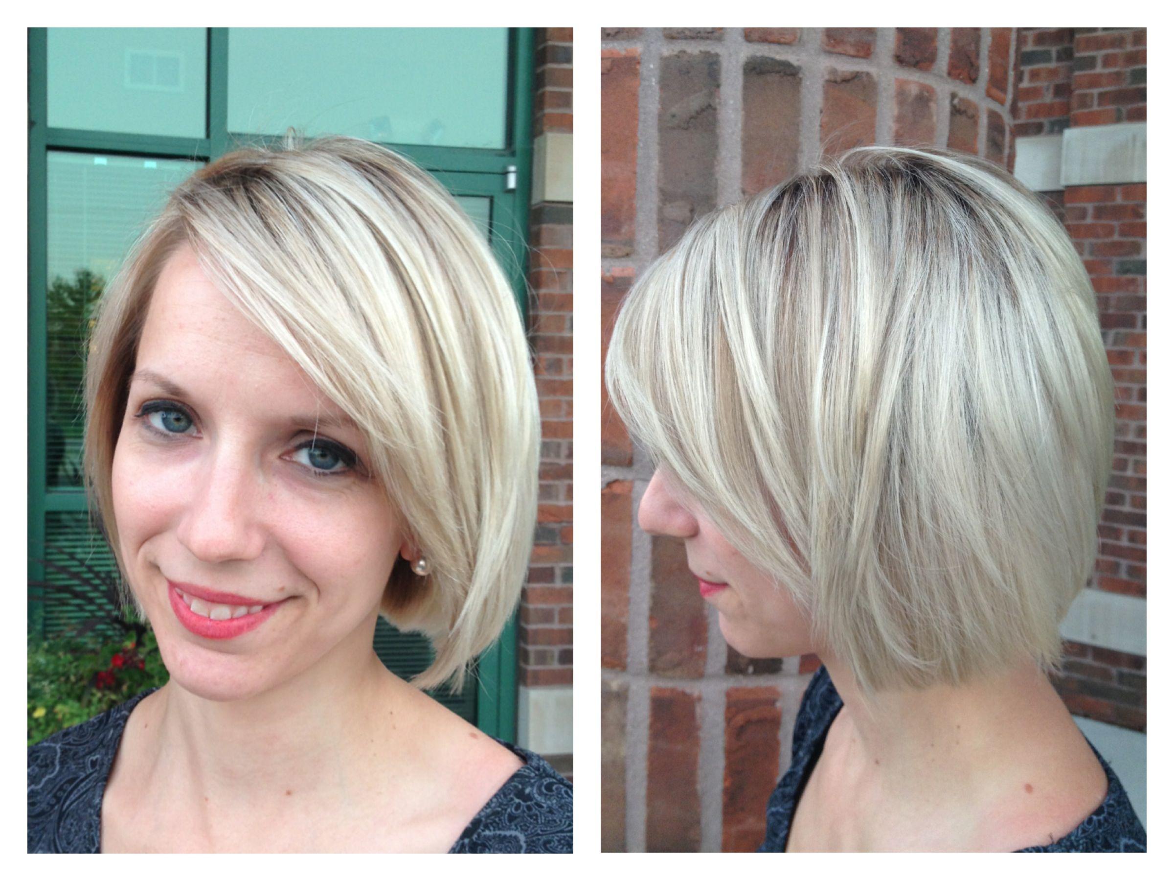 Bob Haircut: Blonde Highlights Lowlights And Layered Bob Haircut