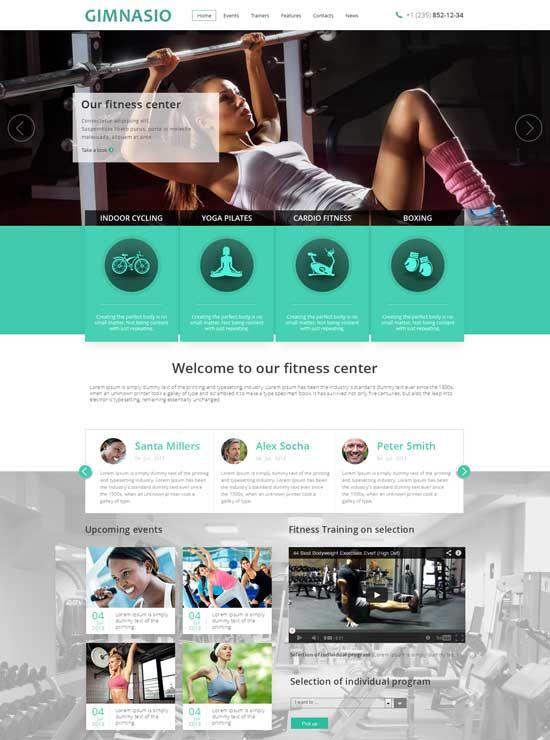 Gimnasio-Responsive-HTML-Template KIVAT SYMBOLIT :-) | Sports ...