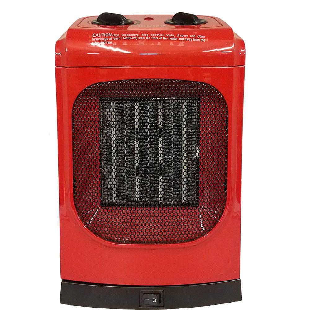 NEW Electric KUL 1500 Watt Red Ceramic Fan Heater Model