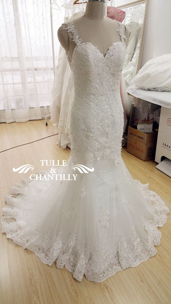 Delicate Customized Mermaid Long Wedding Dress With Low Back