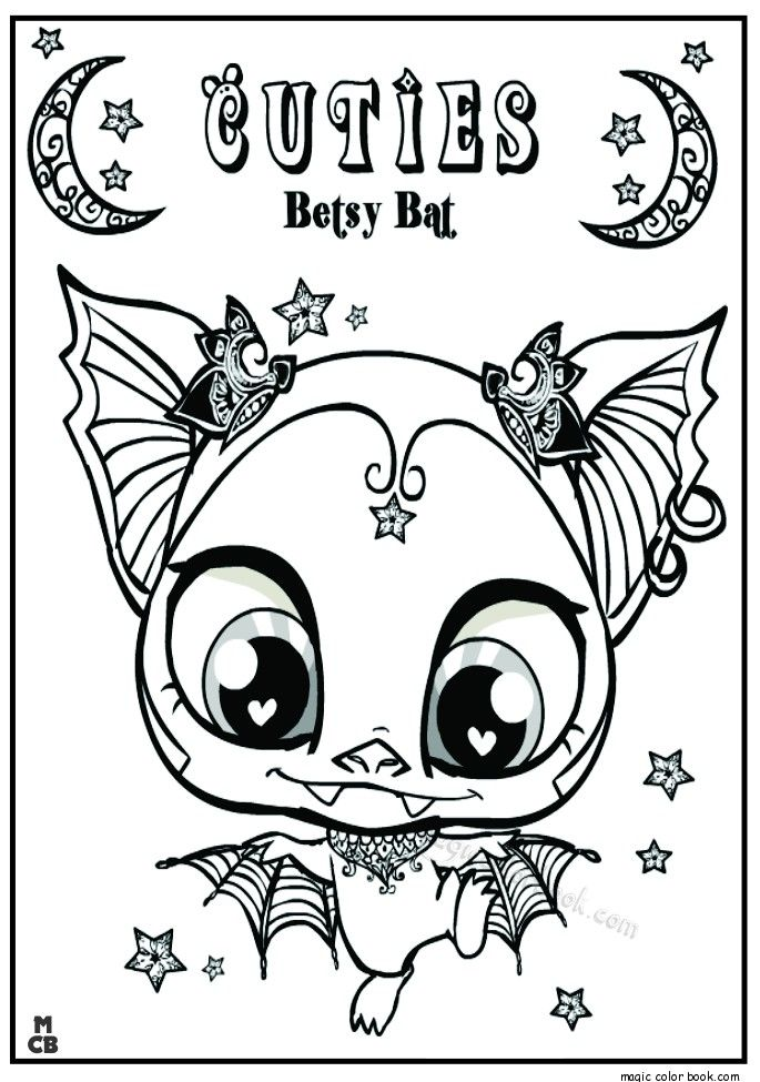 Cuties Littlest Petshop Coloring Pages Free Online 4 Coloring