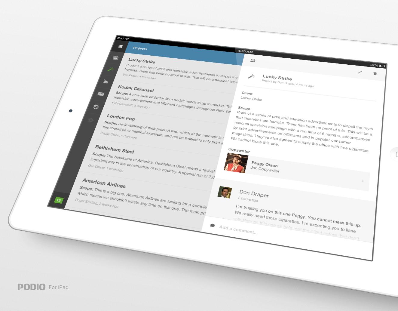 Podioforipadlarge User interface design, Web design