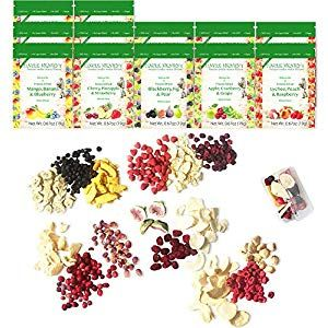 Freeze Dried Fruit: 15 Delicious Fruits Strawberry Blueberry Raspberry More. 1/2 Pound 12 Large Bags: The Ultimate Snack Box. Original Green Top Youll Love it Cupboard Pasta-Pulses Cupboard Spices-Seasonings Cupboard Minerals-Supplements Capsules Water Cupboard Supplies Mixes Flour-Mixes Supplies T