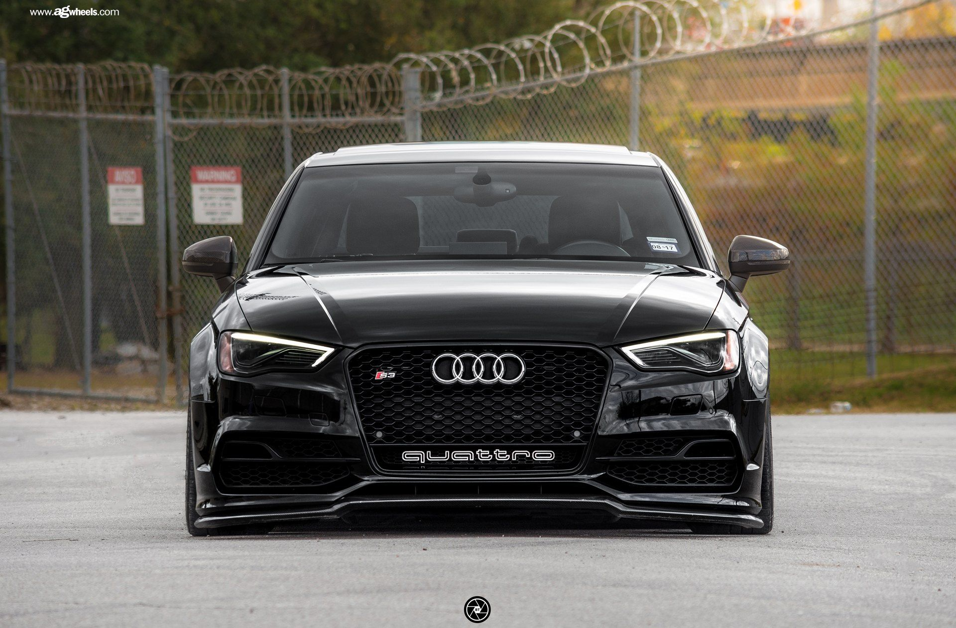 Stylish Thing Black Audi S3 On Gold Avant Garde Rims Black Audi
