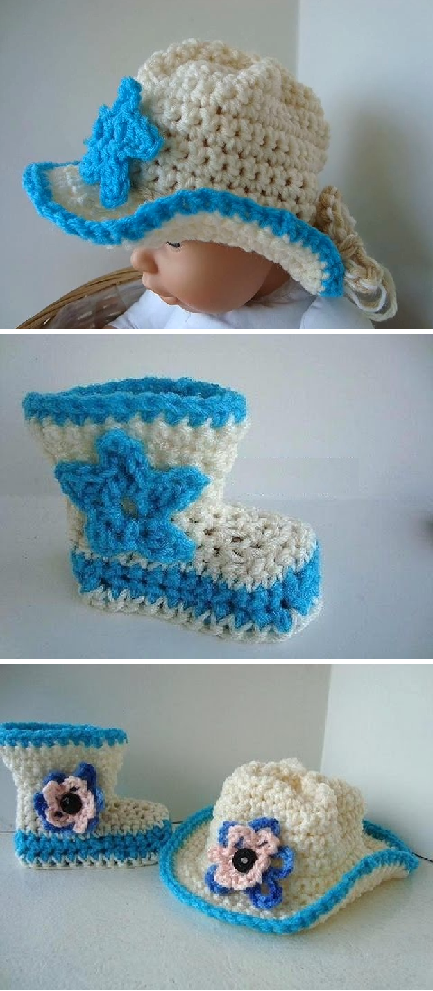 Crochet Cowboy Hat and Boots | Baby Crochet - oh so cute ...