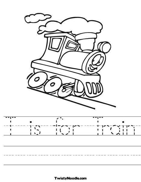 T Is For Train Worksheet T Is For Train Kindergarten Worksheets Transportation Preschool Kindergarten train worksheets