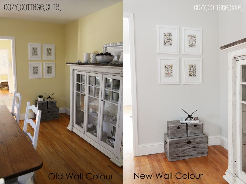 Paint Color In The Right Hand Picture Is Gray Owl By Benjamin Moore But At A