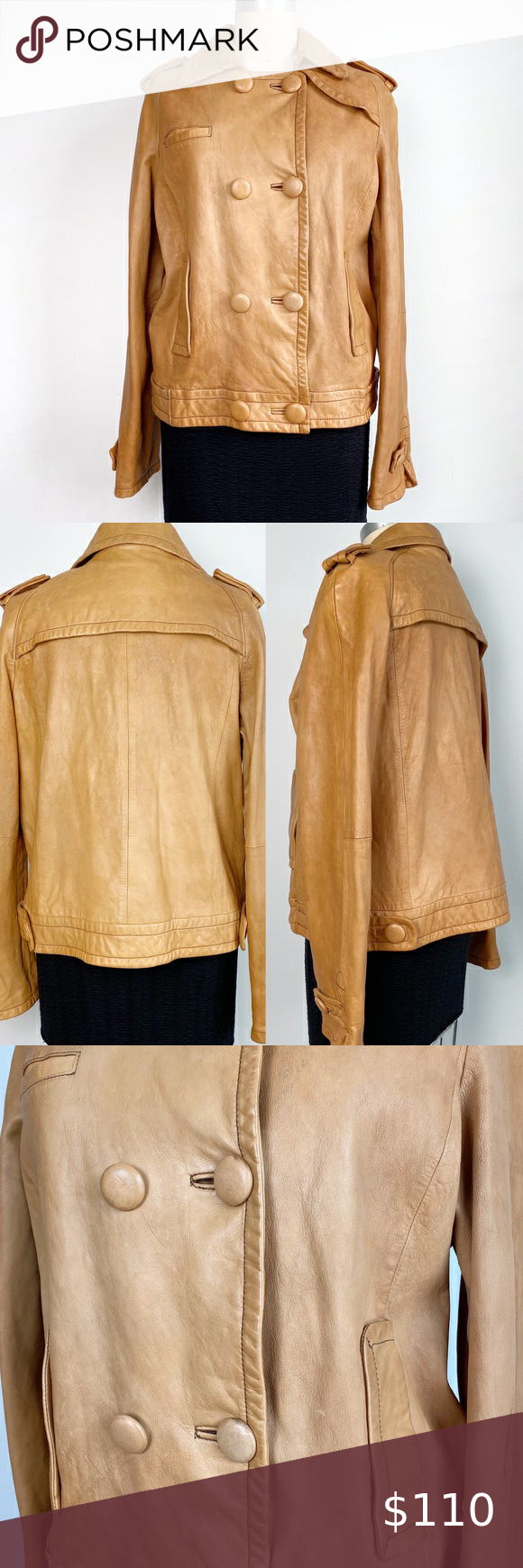 Banana Republic Cognac Leather Jacket in 2020 Leather