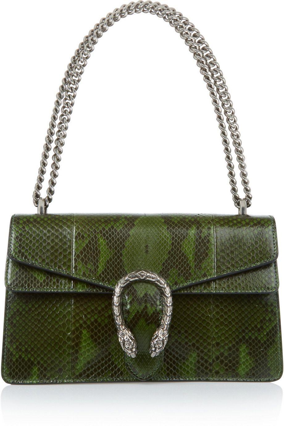 Gucci | Dionysus small python shoulder bag | NET-A-PORTER.COM
