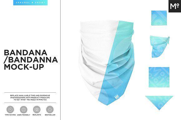 The Bandana Mock Up Business Card Logo Mockup Design Mockup